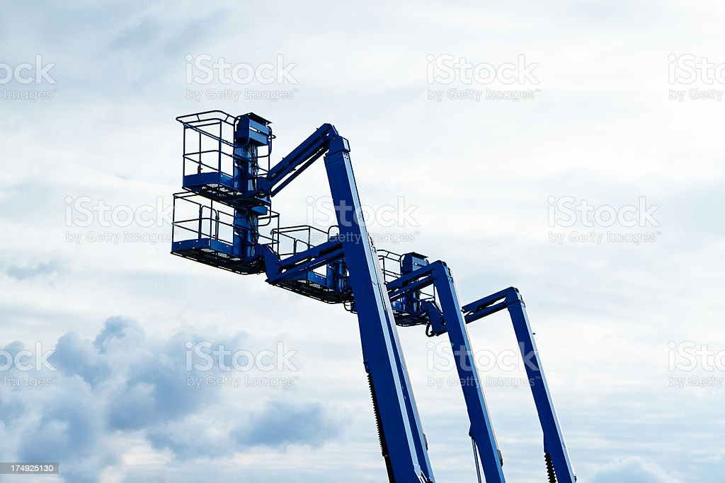 Elevated Work Platform Of A Hydraulic Lift stock photo