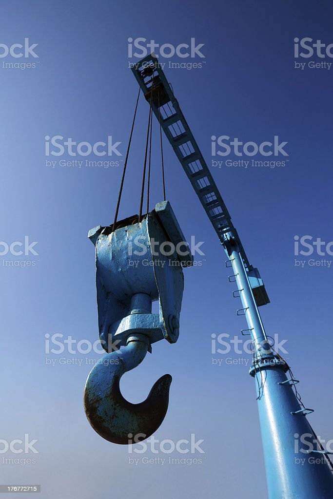 Elevating Crane royalty-free stock photo