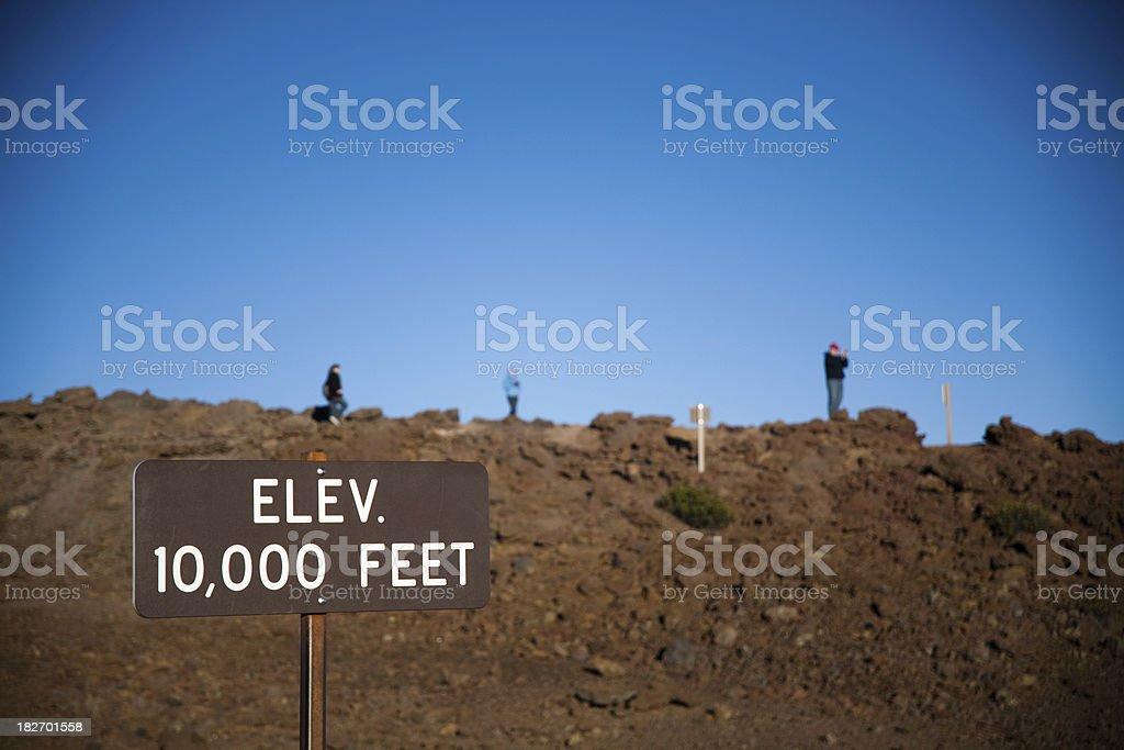 elevation: 10,000 feet royalty-free stock photo