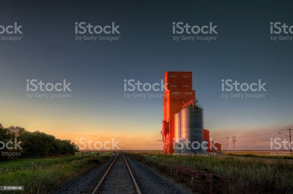 Elevator at Carey, Manitoba stock photo