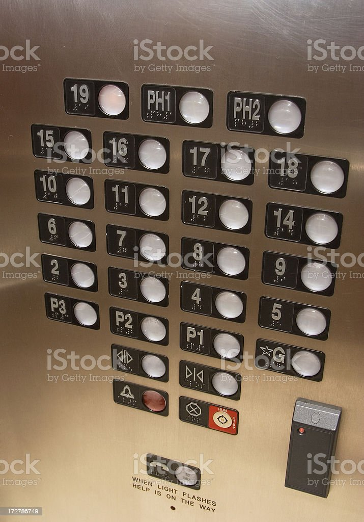 Elevator buttons royalty-free stock photo