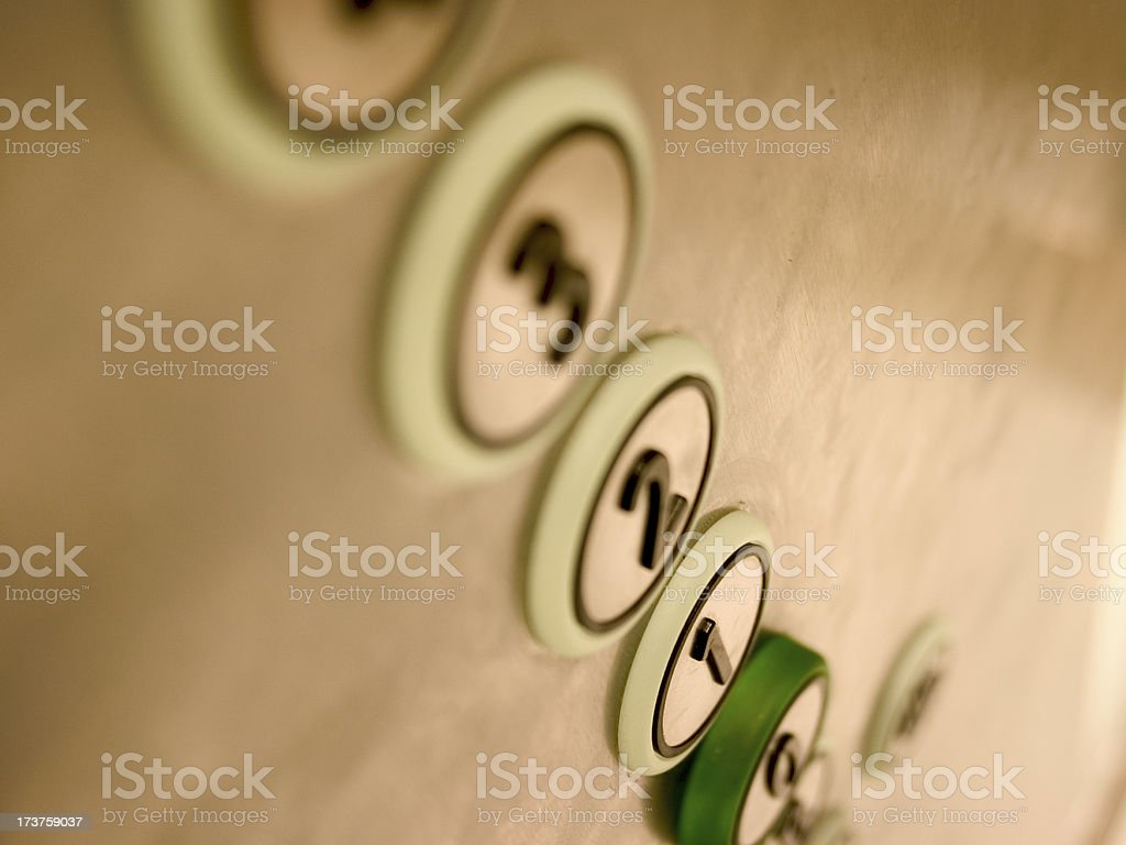 Elevator (Lift) Buttons stock photo