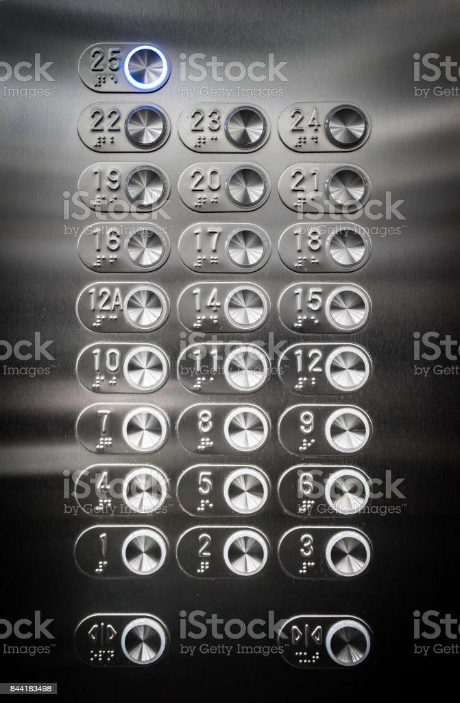 Botones del ascensor - foto de stock