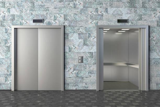 aufzug kabine - eingangshalle wohngebäude innenansicht stock-fotos und bilder