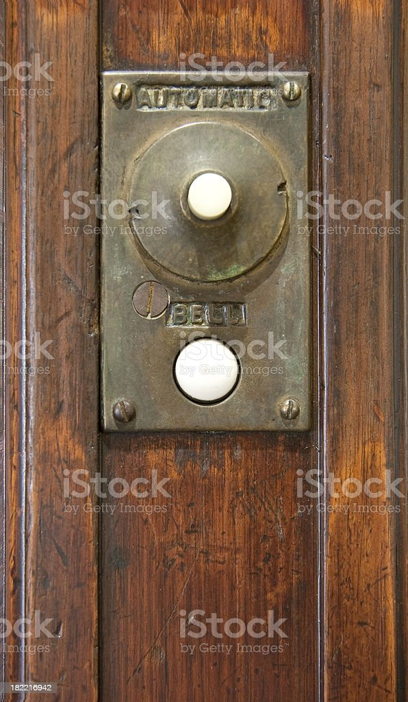 Elevator call button. stock photo