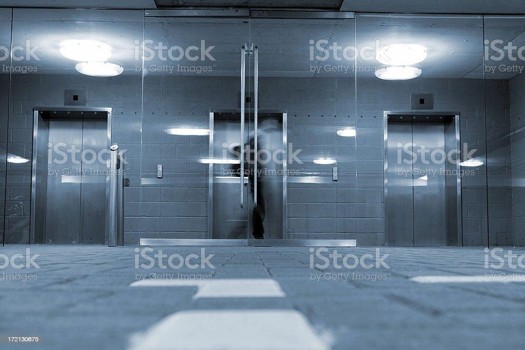 Elevator choice royalty-free stock photo