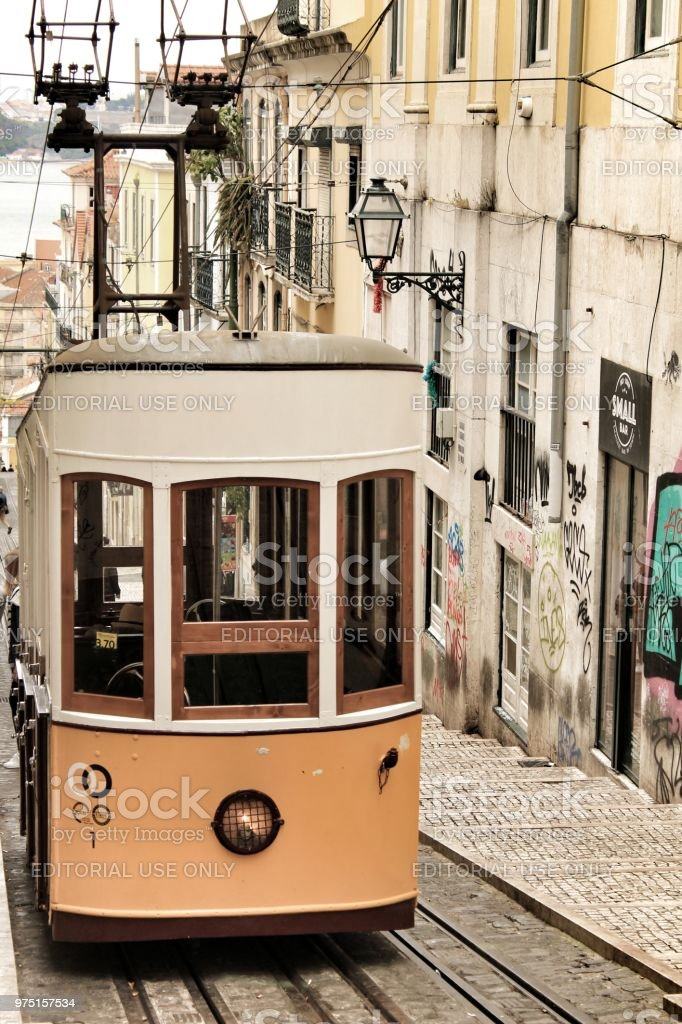 Elevator Da Bica In Lisbon Portugal Stock Photo More Pictures Of