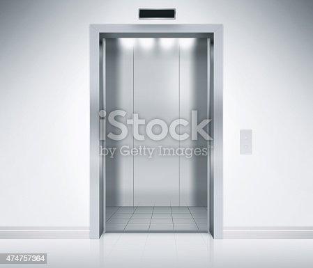 istock Elevator Doors Open 474757364