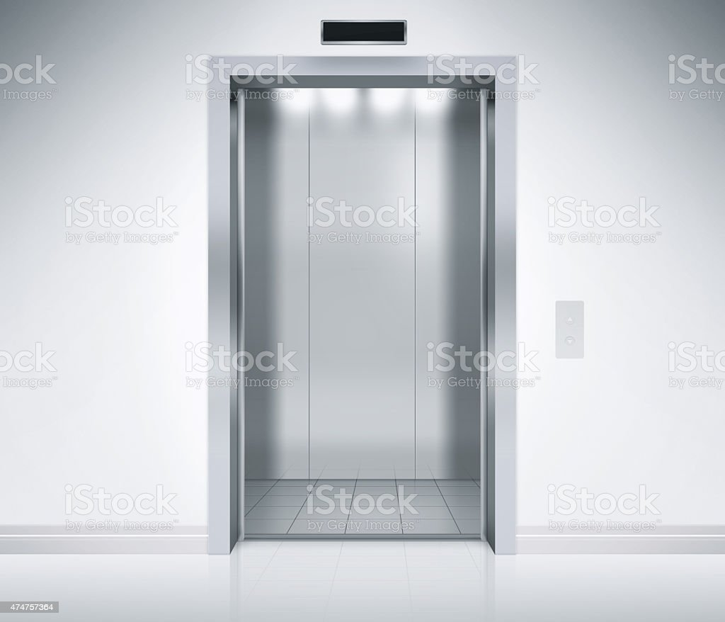 Elevator Doors Open stock photo