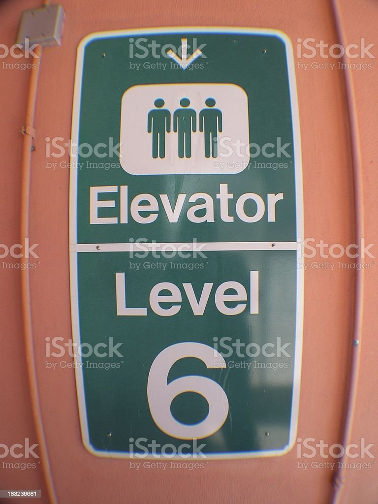 Elevator Down royalty-free stock photo