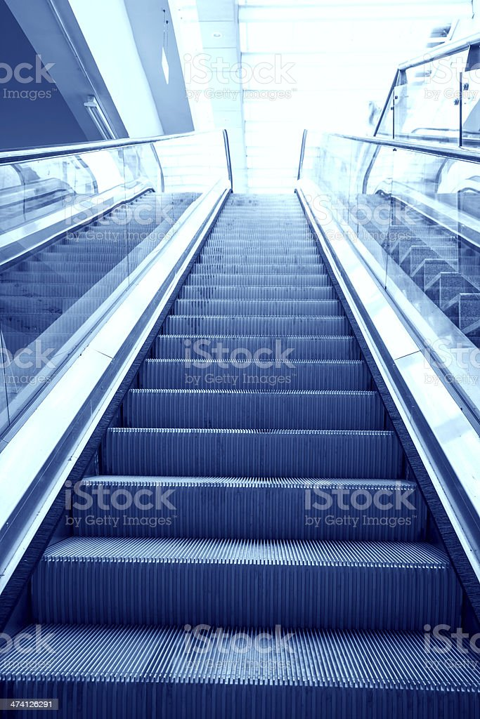 elevator in the subway royalty-free stock photo