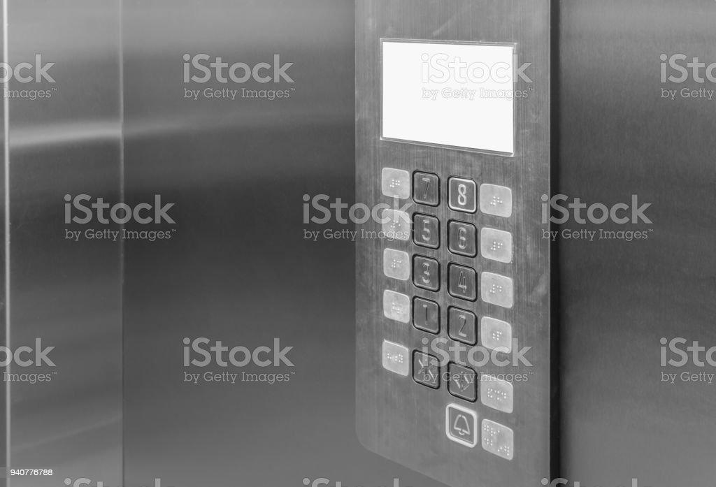 Heben Sie Aufzug innen Control Panel mit Braille-Tasten – Foto