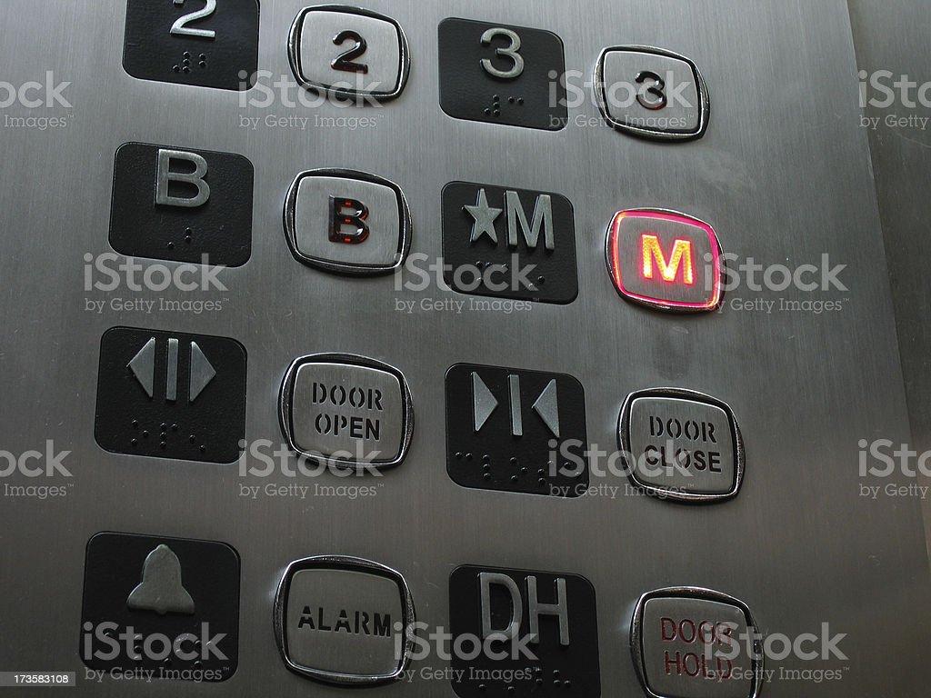 Ascensor de teclado - foto de stock