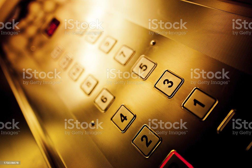 Ascensor teclado numérico - foto de stock