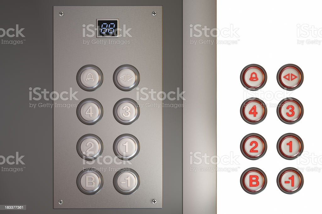 Renovación del ascensor - foto de stock