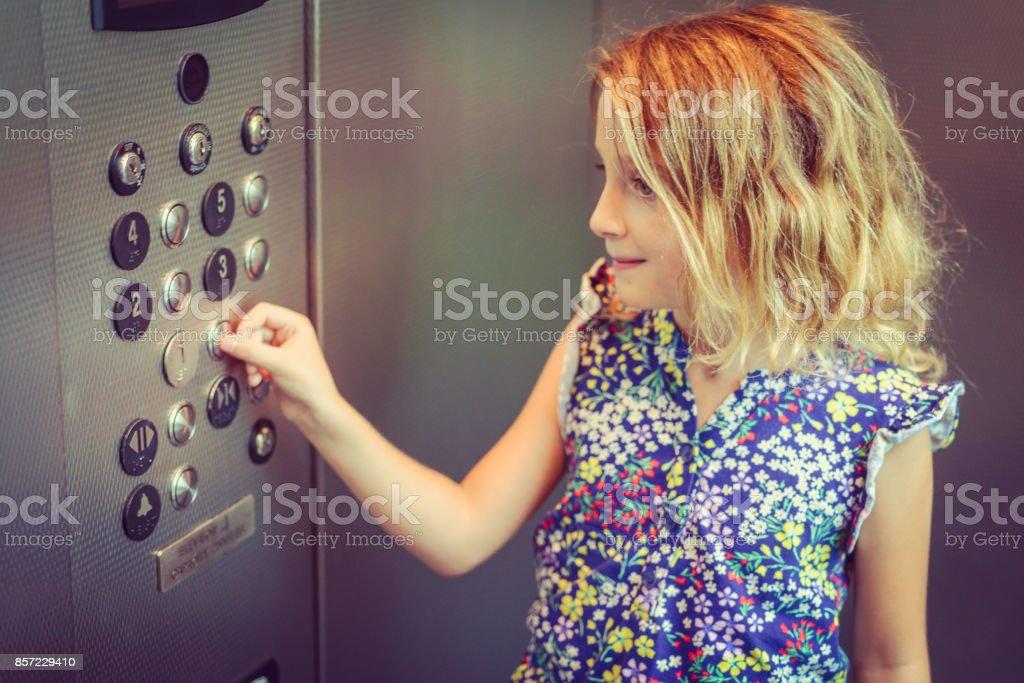 Prensatelas de ascensor - foto de stock