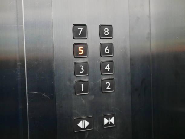 elevator push buttons stock photo