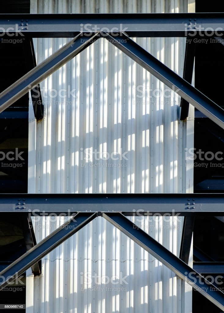 Elevator Shaft in Morning Light stock photo