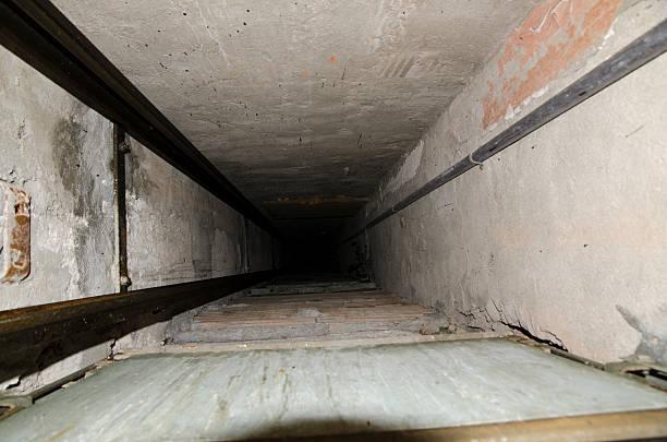 Elevator shaft stock photo