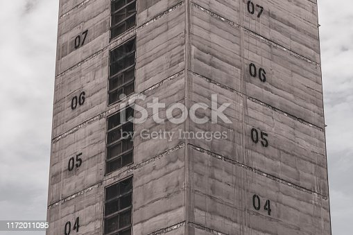istock Elevator shaft under construction on a building site 1172011095