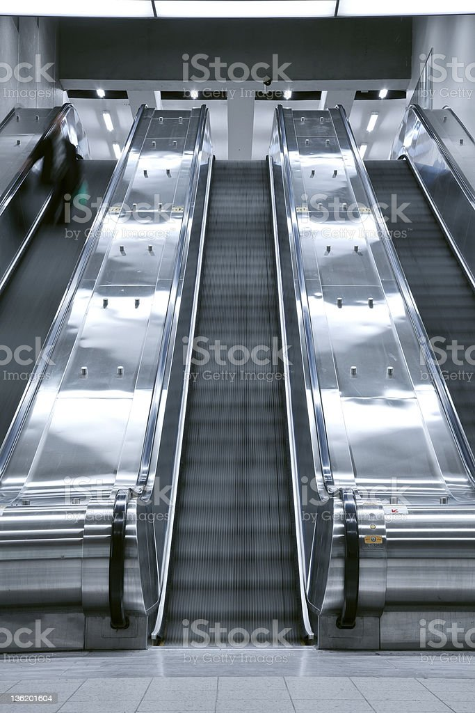 Elevator stair case - one person royalty-free stock photo