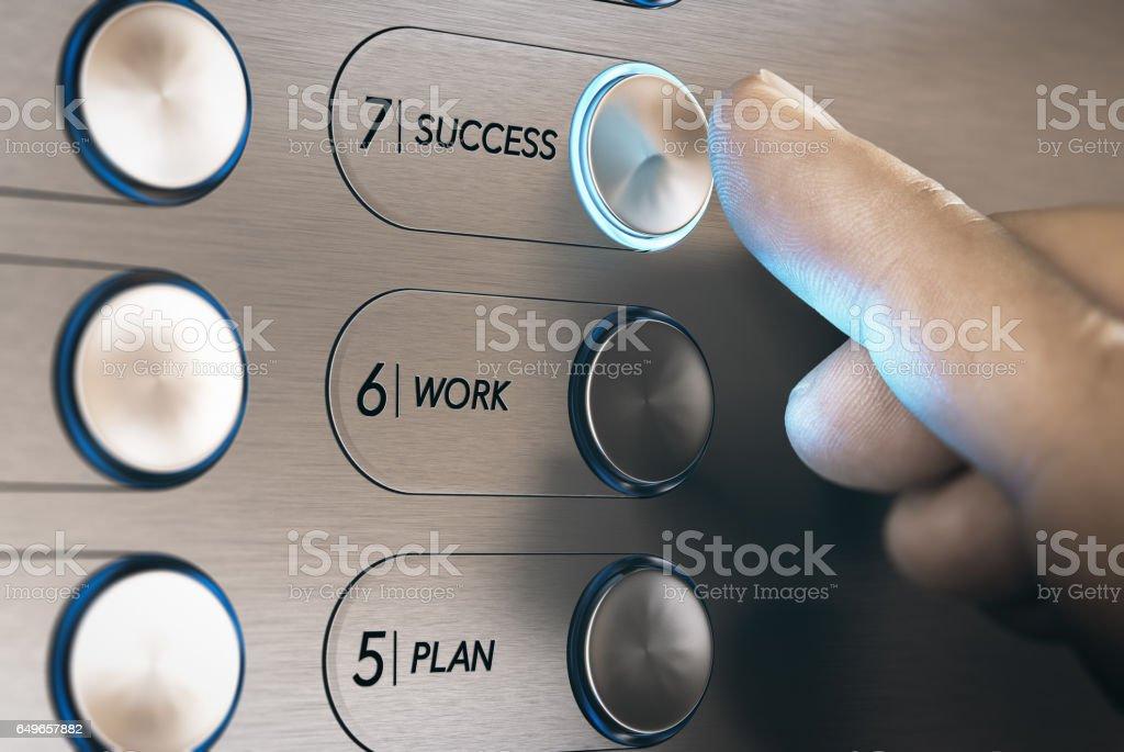 Ascensor al concepto de éxito - foto de stock
