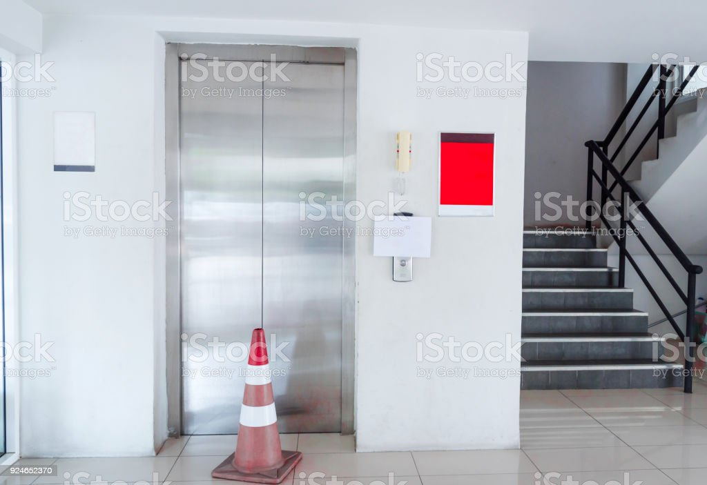 Elevator Was Broken. Please Use The Stairs. Royalty Free Stock Photo