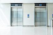 Elevators in modern office building.