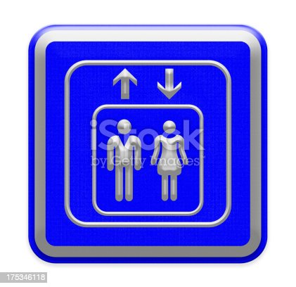 480193462 istock photo Elevators sign on white background. Part of a series. 175346118