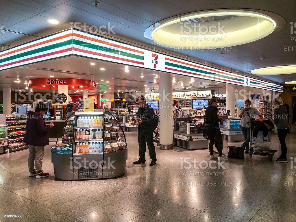 7 Eleven Store at Copenhagen Airport, Denmark stock photo