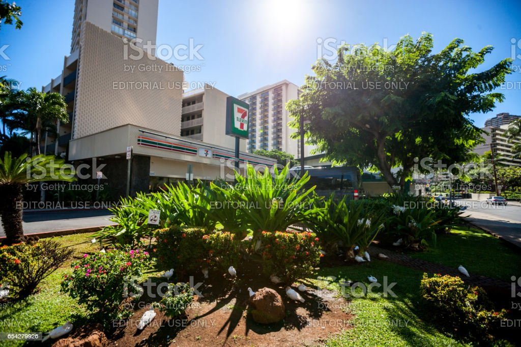 7 Eleven store in Honolulu, Hawaii, USA stock photo