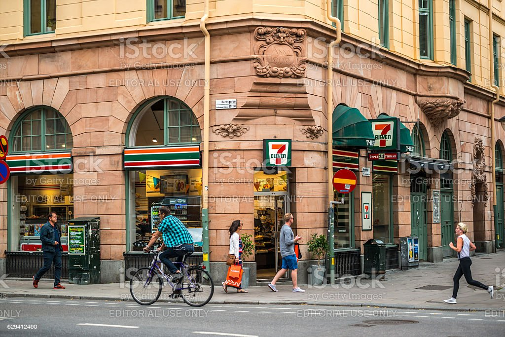 7 Eleven store in Stockholm, Sweden stock photo