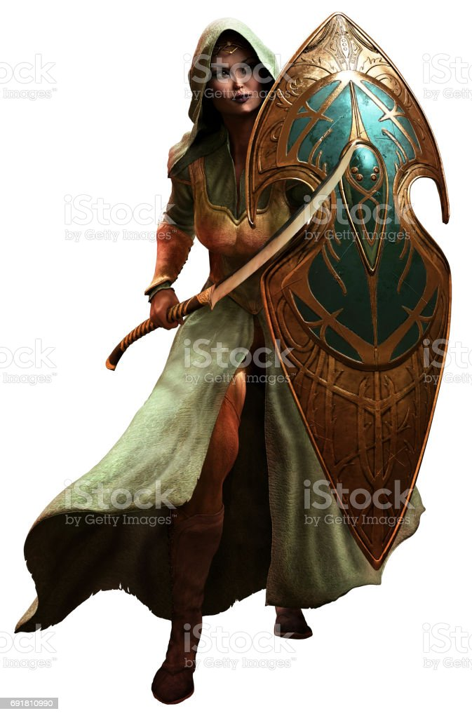 Elf warrior stock photo