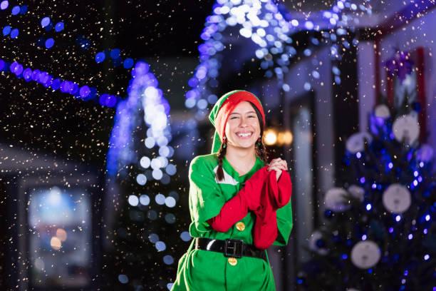 Elf beim Winterfest – Foto