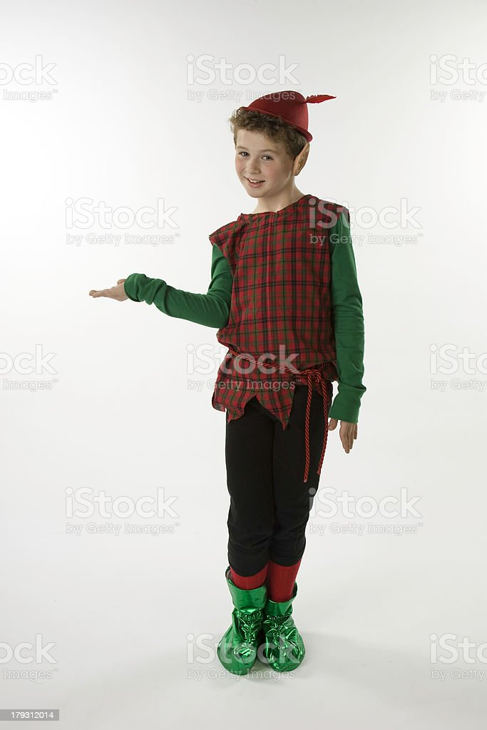 Elf Displaying Something royalty-free stock photo