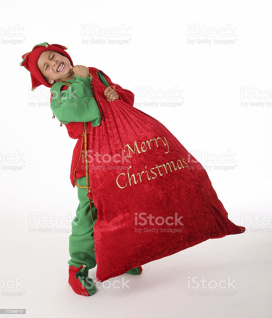 elf needs help royalty-free stock photo