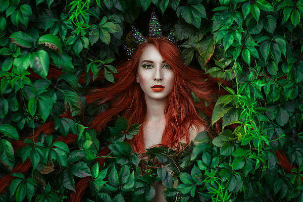 elf princess portrait - elfen fantasy stock-fotos und bilder