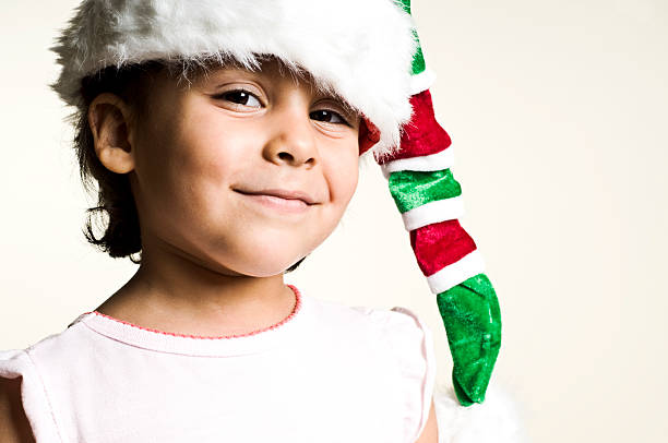 elf with an idea stock photo