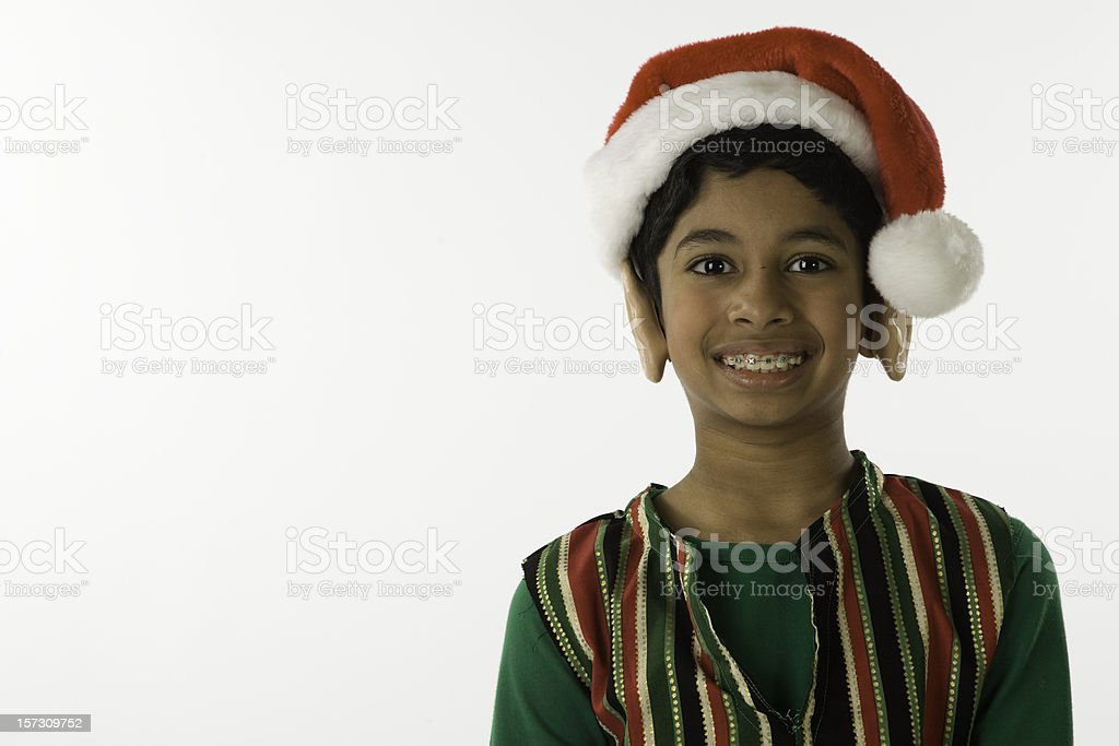 6cbbd21750b Elf With Droopy Hat And Braces Stock Photo   More Pictures of Boys ...