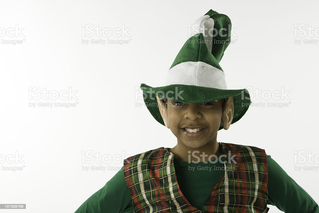 8571e0e7918 Elf With Funny Hat Stock Photo   More Pictures of African Ethnicity ...