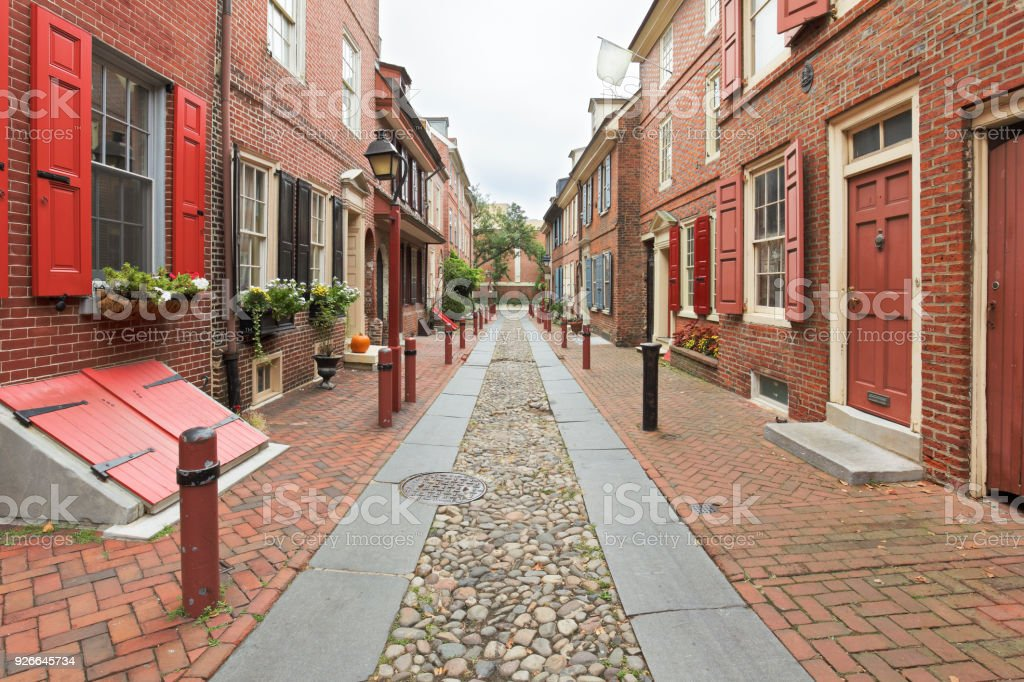 Elfreth's Alley - Philadelphia stock photo