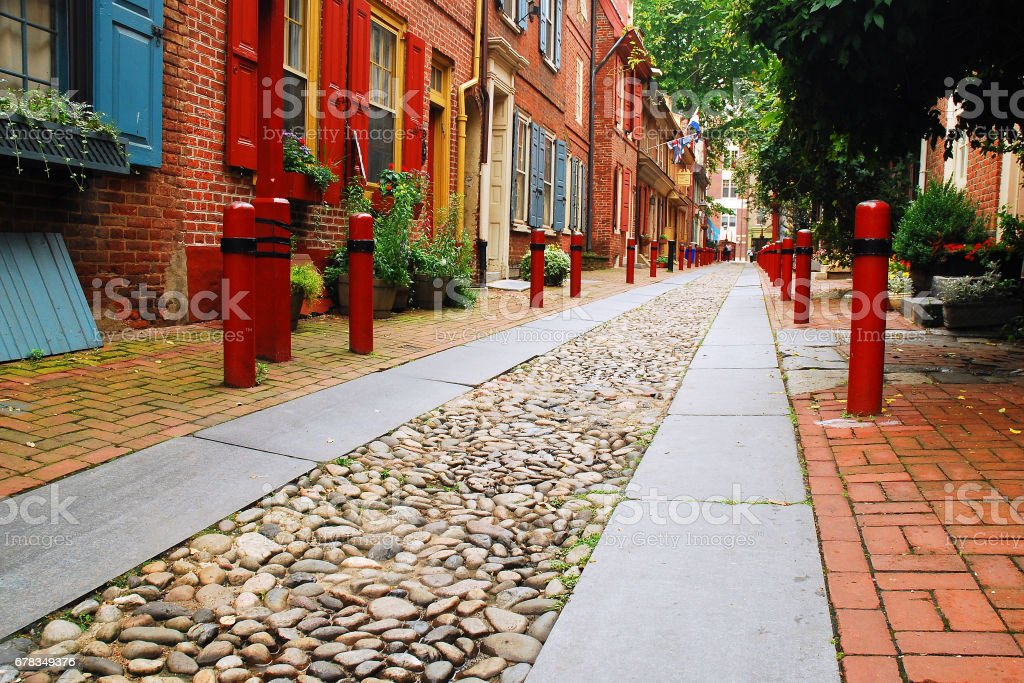 Elfreth's Alley stock photo