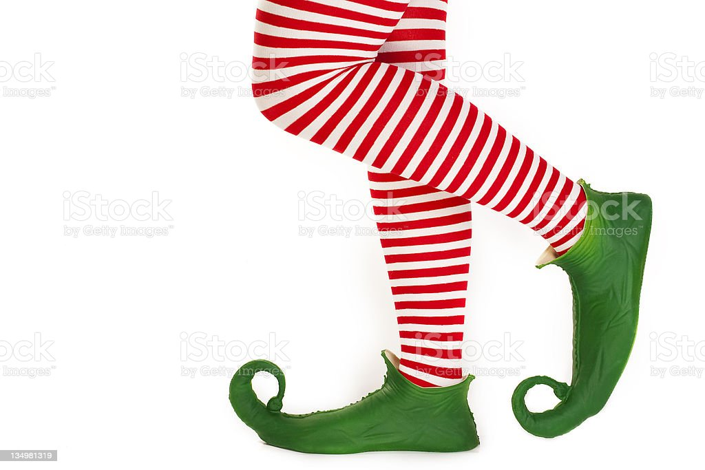 Elf's legs stock photo