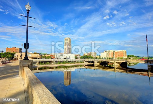 Elgin is a city in Cook and Kane counties in the northern part of the U.S. state of Illinois. Located roughly 35 miles northwest of Chicago