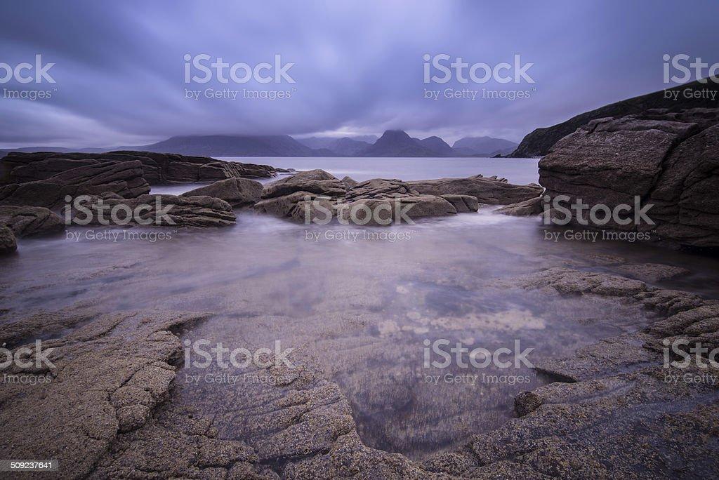 Elgol Beach, Isle of Skye stock photo
