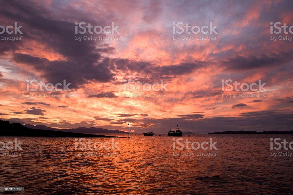 Elgol Fishing Boats stock photo