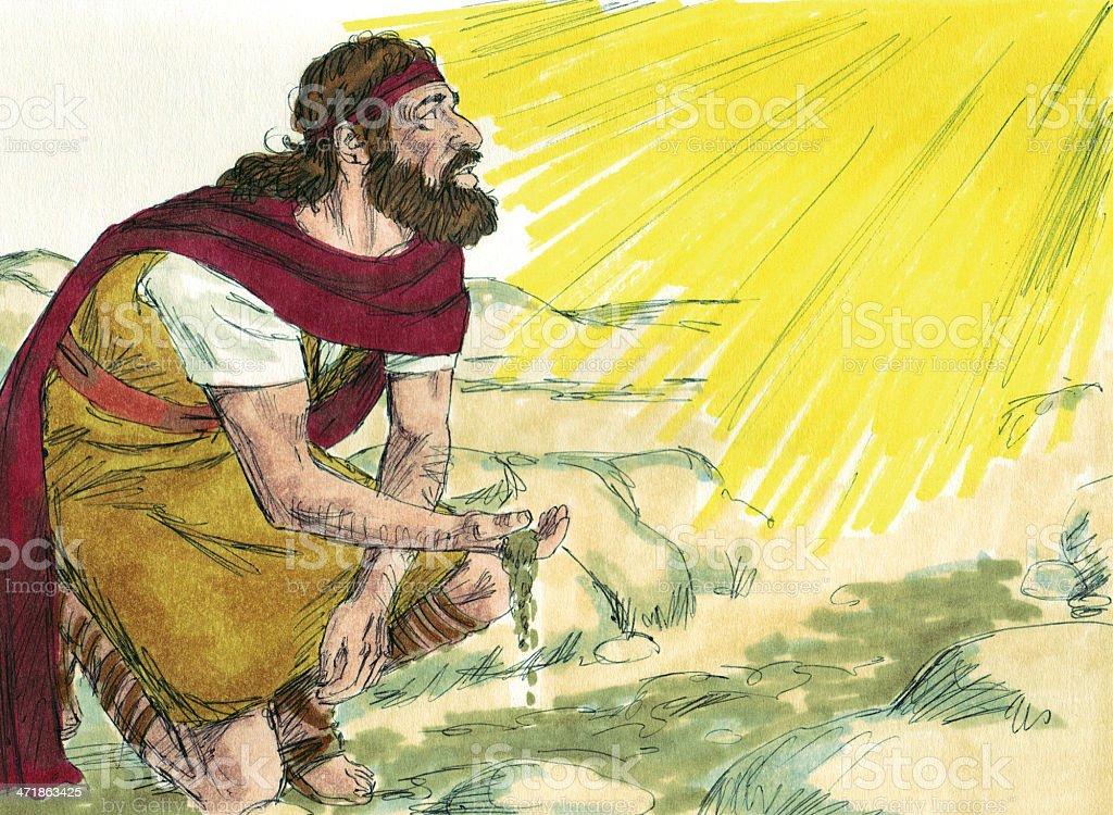 Elijah Hears From God stock photo