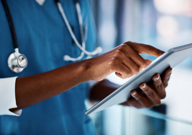 Eliminating delays in patient care with digital technology stock photo