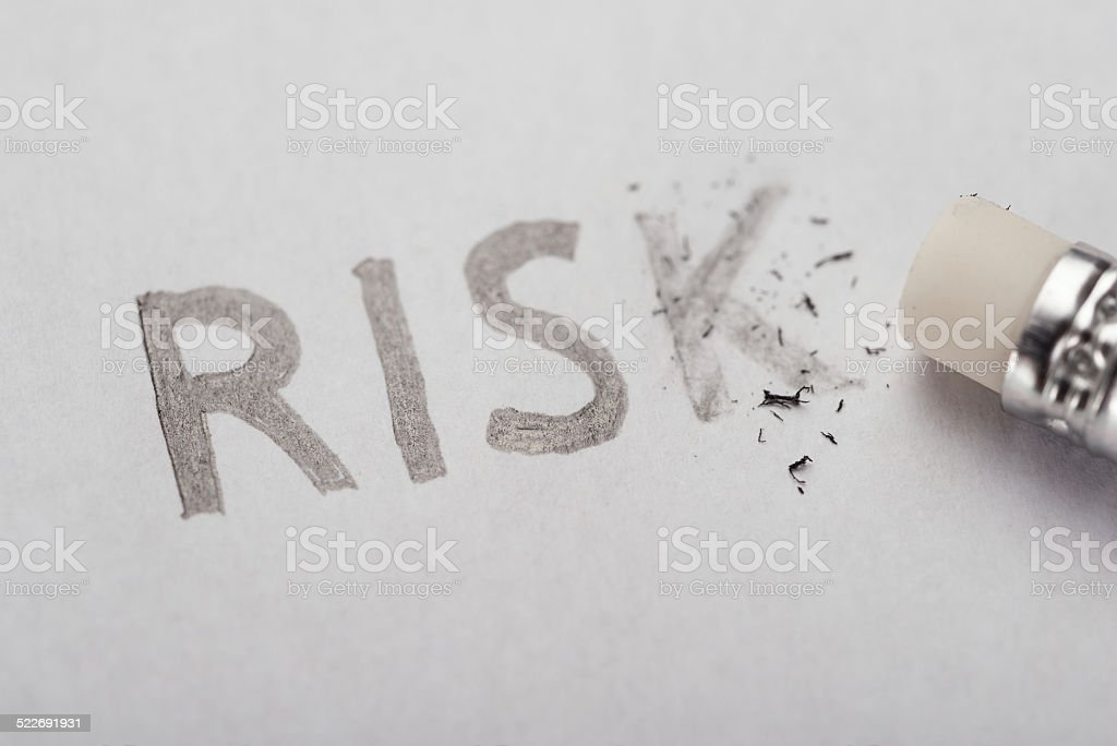 Eliminating risk concept stock photo