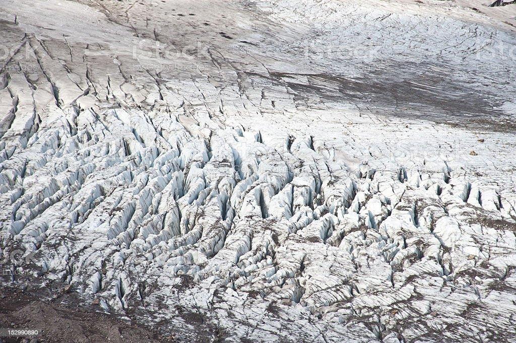 Eliot Glacier on Mt. Hood royalty-free stock photo